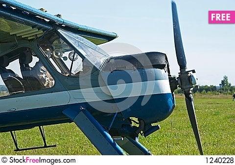 Sport aeroplane Stock Photo