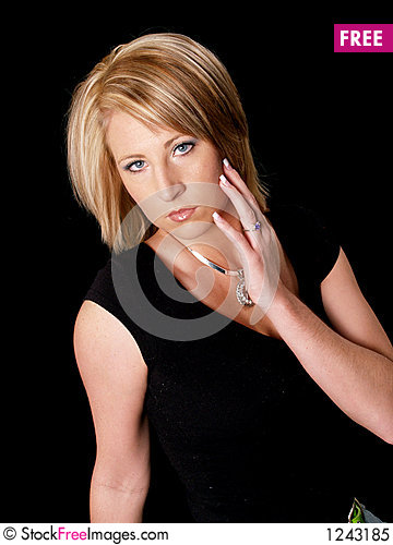 Attractive Blond Model Stock Photo