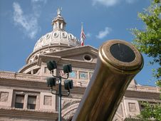 Free Texas Capitol Cannon Royalty Free Stock Image - 1240966