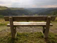 Free Bench On Mountain In Wales Royalty Free Stock Image - 1245126