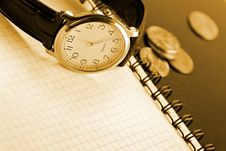 Free Business Time Background Royalty Free Stock Photos - 1245168