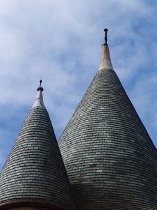 Free Twin Conical Pointed Rooftops Stock Photo - 1245230