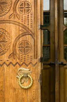 Free Ancient Wooden Door Stock Image - 1246151