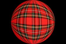 Chequered Ball Stock Photography