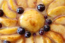 Peach And Grapes Cake Royalty Free Stock Image