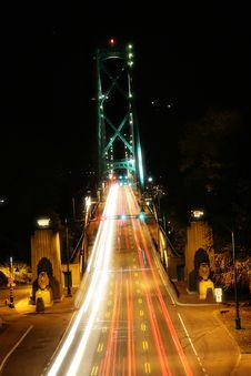 Free Bridge At Night Stock Images - 1248314
