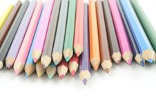 Free Coloured Pencils Royalty Free Stock Image - 1248716
