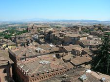 Siena Rooftops Royalty Free Stock Images