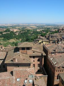 Siena Rooftops Stock Image