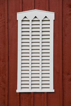 Free Louvered Barn Window Royalty Free Stock Photography - 1249847