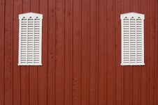 Free Louvered Barn Side With Windows Stock Photos - 1249863