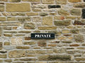Free Private - Sign On Stone Fire-wall Royalty Free Stock Photos - 12408548