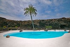 Free Swimming Pool, Property, Resort, Palm Tree Royalty Free Stock Photography - 124419247