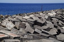 Free Rock, Breakwater, Archaeological Site, Sea Stock Photography - 124419342