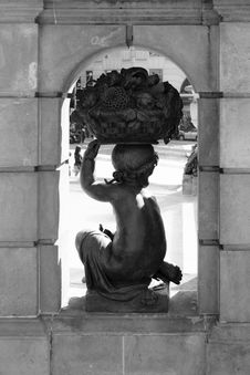 Free Sculpture, Statue, Black And White, Stone Carving Stock Photography - 124708982