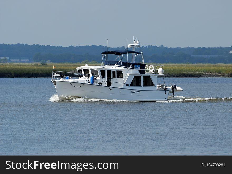Boat, Waterway, Water Transportation, Motorboat