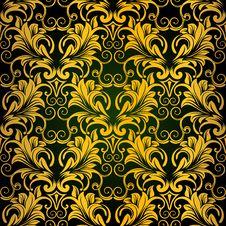 Gold Seamless Wallpaper Royalty Free Stock Photo