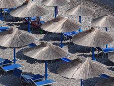 Free Blue, Umbrella, Sand, Sky Stock Image - 124939581