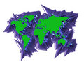 Free 3D Map Continent Royalty Free Stock Photo - 1250875