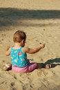 Free Baby On Beach Stock Images - 1253304