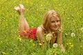 Free GIRL BETWEEN FLOWERS Royalty Free Stock Photo - 1256655