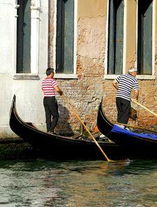 Free Venice - Gondola Series Royalty Free Stock Photography - 1250327