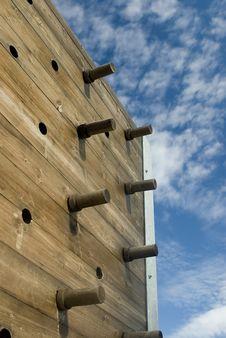 Free Wooden Climbing Wall Stock Photos - 1250793