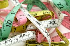 Free Tape Measures Royalty Free Stock Photo - 1251095