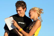 Free Young Cute Couple Boy And Girl Stock Photos - 1251343
