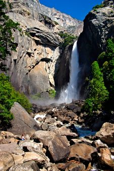 Free Yosemite Falls, Yosemite National Park Royalty Free Stock Image - 1251906