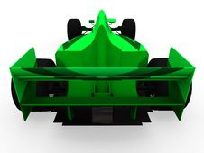 Free F1 Green Racing Car Vol 3 Royalty Free Stock Images - 1252609