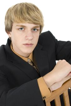Free Teen In Suit Stock Photography - 1252852