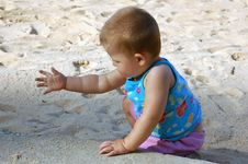 Free Child On The Beach Stock Photography - 1253332