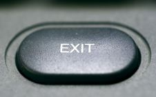 Free Exit Knob Royalty Free Stock Photos - 1254928