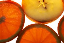 Orange And Apple Slices Stock Photography