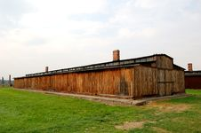 Free Barracks At Auschwitz II- Birkenau Stock Images - 1255414