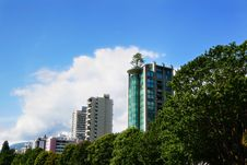 Free Buildings And Trees Royalty Free Stock Photo - 1255715