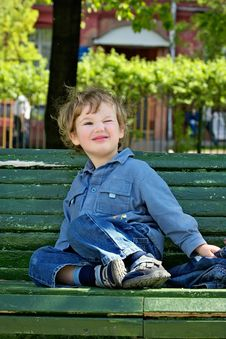 Free Cheerful Blinking Child Royalty Free Stock Images - 1256169