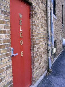 Free Alley Door Stock Photography - 1256852