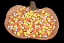 Candy Corns Plate Stock Images