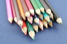 Free Coloured Pencils Royalty Free Stock Images - 1256919