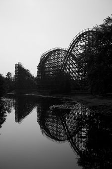 Free Rollercoaster On The Lake Stock Photos - 1257193