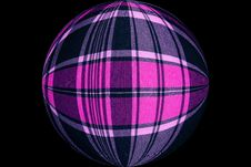 Free Chequered Ball Violet Stock Photography - 1257332