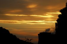 Free Sunset Over Powerstation Stock Photos - 1257443