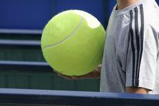 Tennis Fan Stock Photo