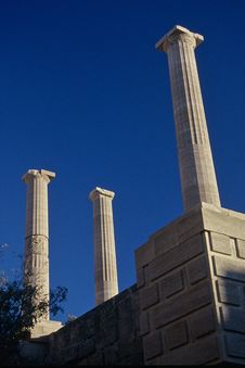 Free Lindos Acropolis Royalty Free Stock Images - 1258659
