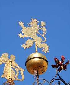 Free Prague S Heraldic Griffin Royalty Free Stock Photography - 1259817