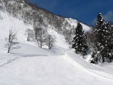 Free Winter Mountain Scene Royalty Free Stock Image - 1259846