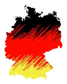 Free Isolated Map Of Germany 03 Royalty Free Stock Image - 1259896