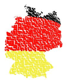 Free Isolated Map Of Germany 11 Royalty Free Stock Photo - 1259935